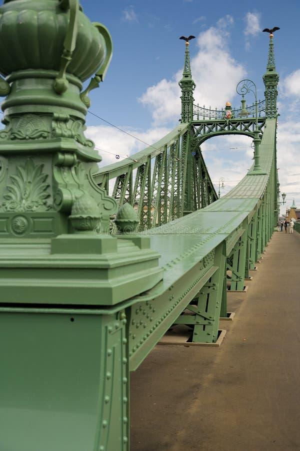 Freedom bridge in budapest stock photos