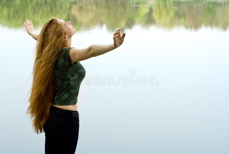Download Freedom Concept - Woman Wanting To Fly Stock Photo - Image: 5440514