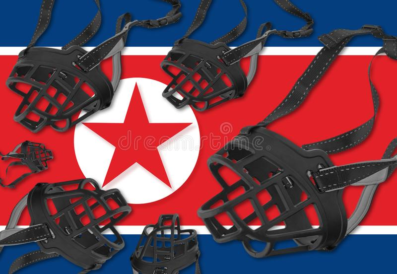 Freedom of expression and human rights in North Korea stock images