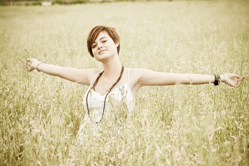 Freedom on the field royalty free stock photo