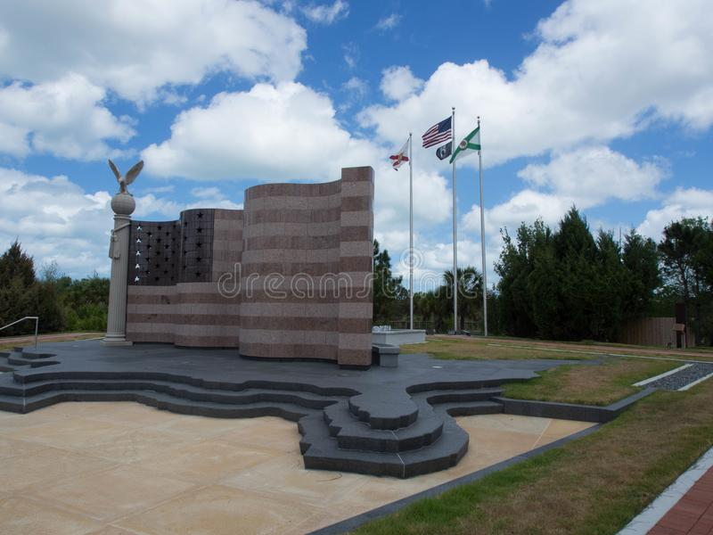 Freedom Flag in Florida. Freedom Park Flag made of granite in Collier County, Florida stock photos