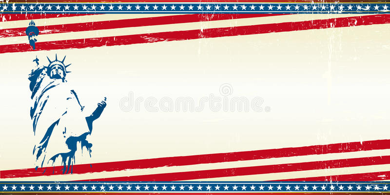 Freedom greeting card royalty free stock image