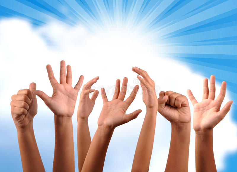 Download Freedom hands stock image. Image of hand, education, hope - 10860913