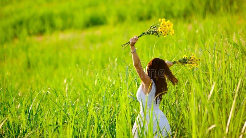 Freedom happy joyful girl stock images