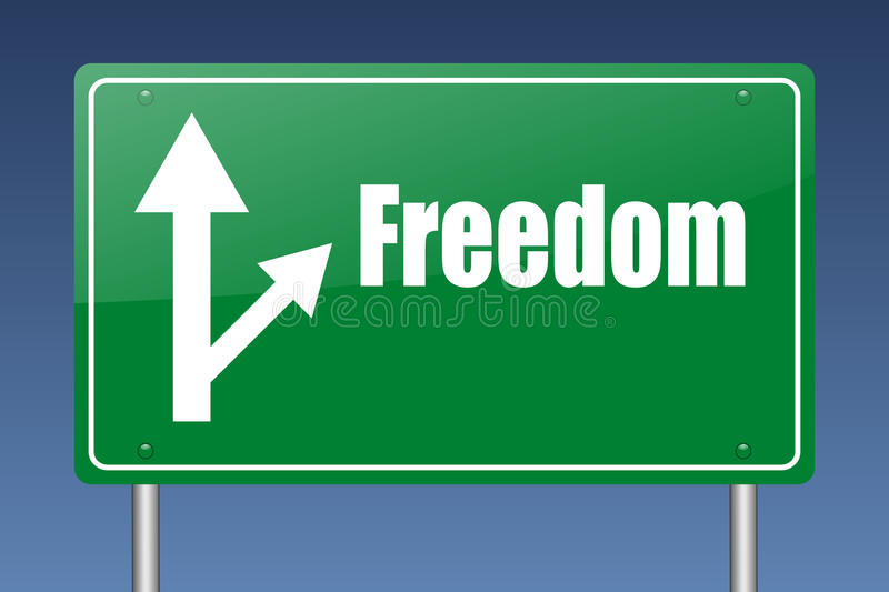 Download Freedom highway sign stock illustration. Illustration of assurance - 20384251
