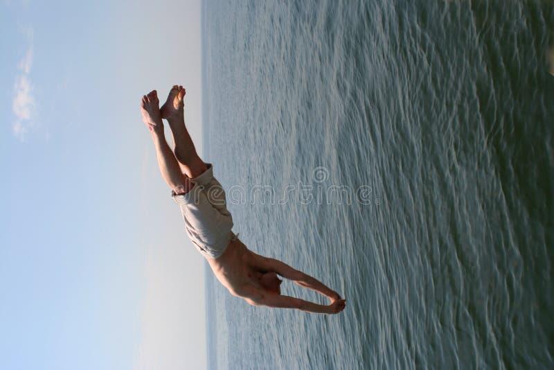 Freedom of jump stock image