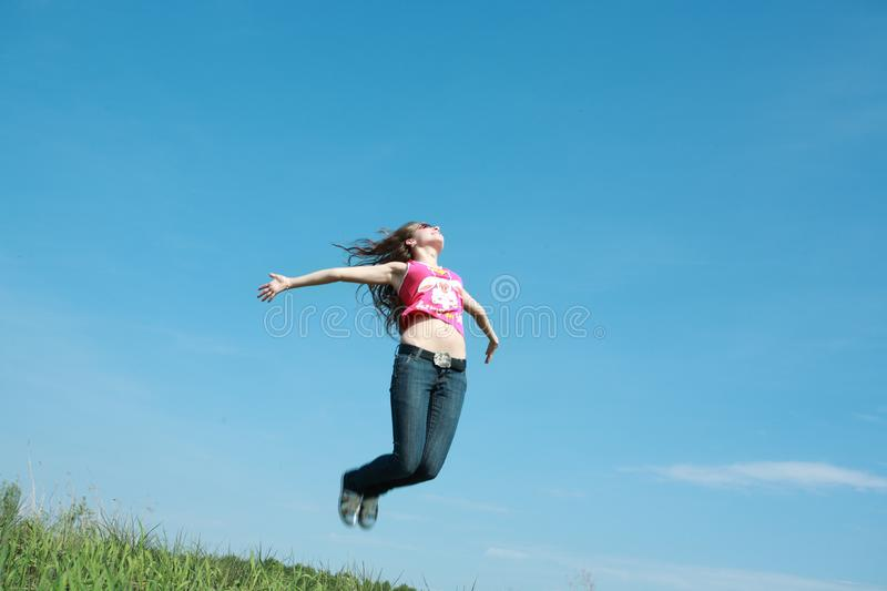 Freedom jump stock images
