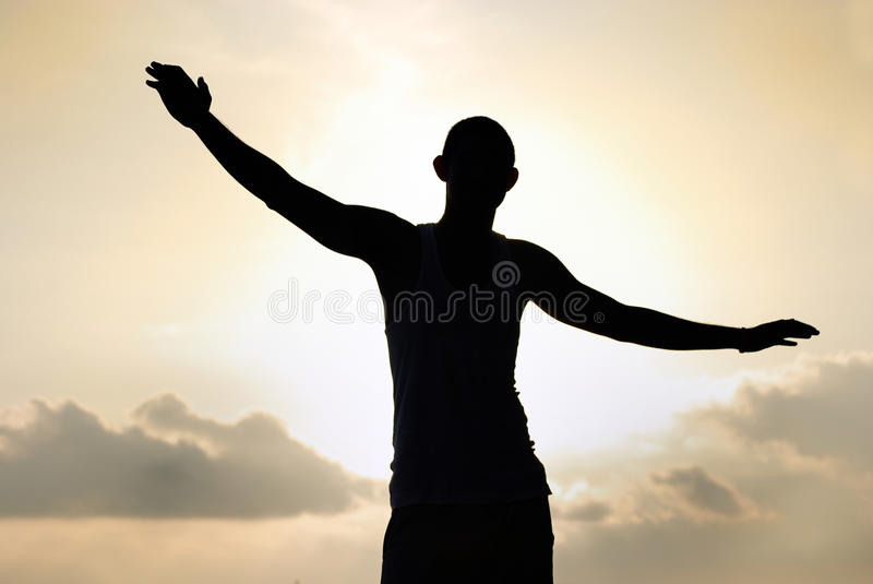 Download Freedom man stock image. Image of sunrise, flying, background - 14492793