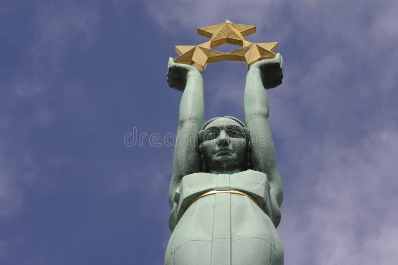 Freedom monument in Riga, Latvia royalty free stock image