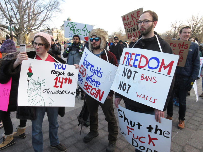 Freedom Not Bans stock image