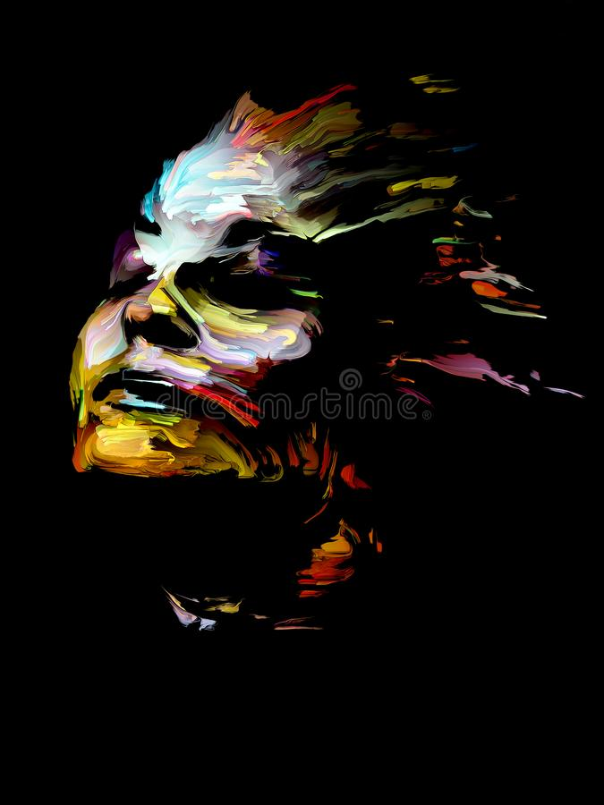Colorful Abstract Portrait stock illustration