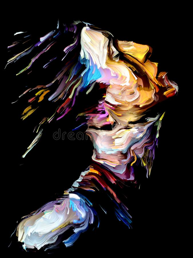 Colorful Abstract Portrait vector illustration