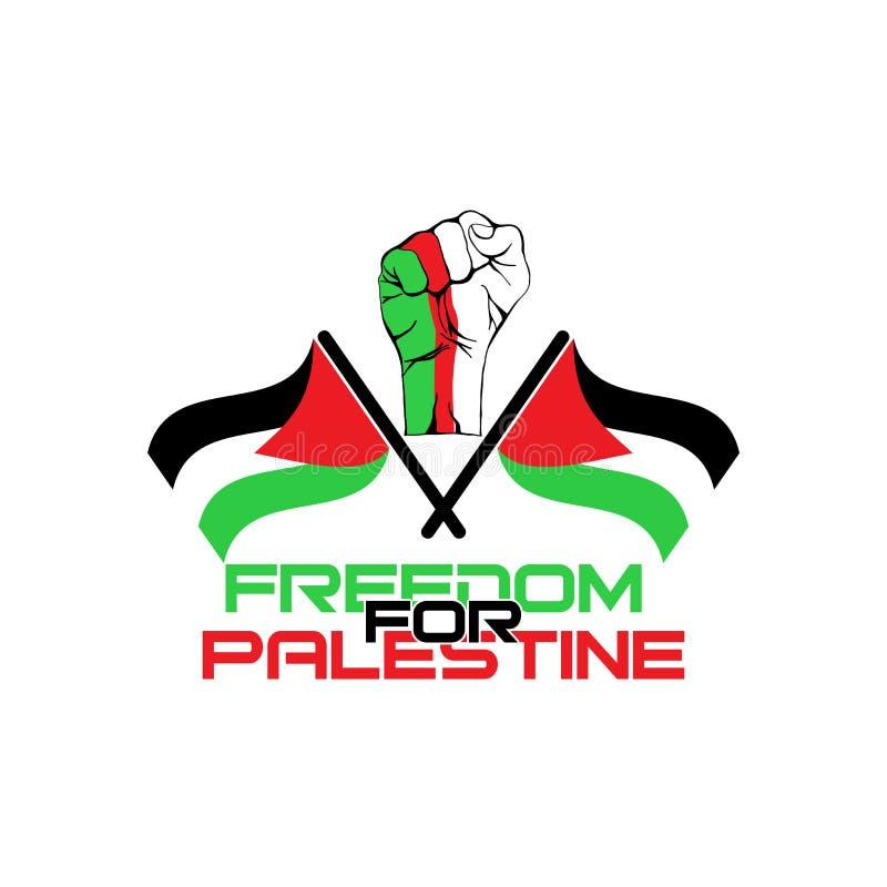 Freedom for palestine vector illustration. Palestine, illustration, freedom, flag, symbol, vector, background royalty free illustration