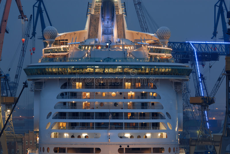 Freedom of the seas. The world biggest passanger ship ( The Freedom Of The Seas) in Hamburg, germany stock photo