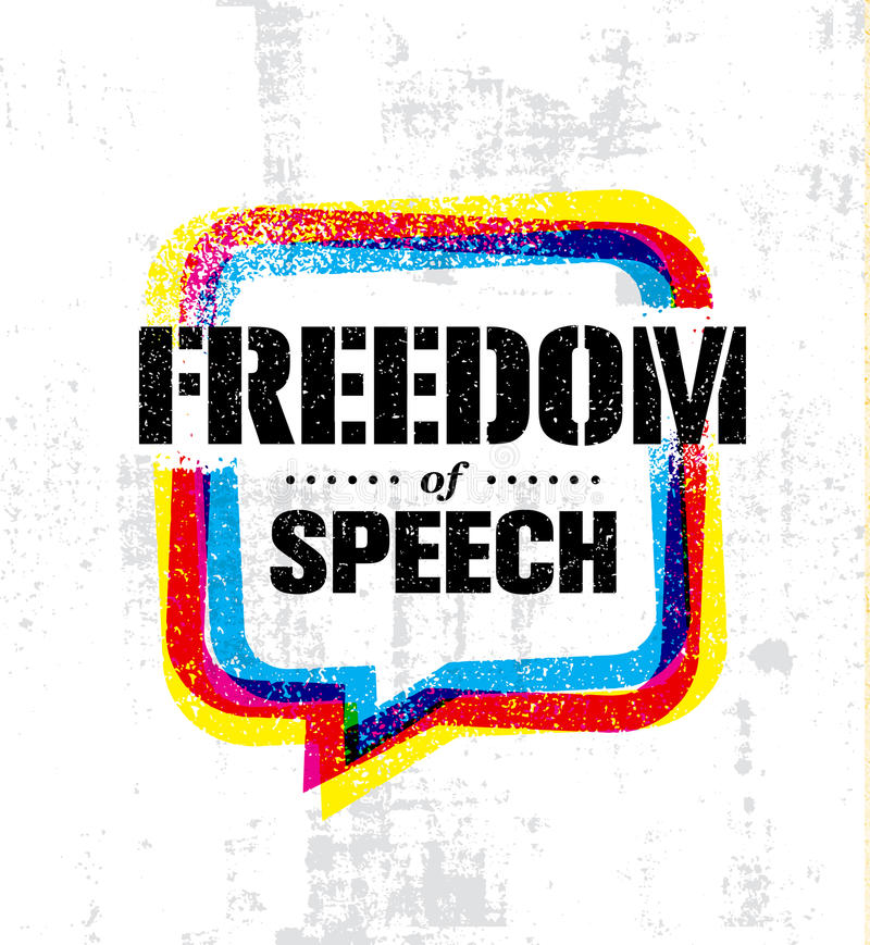 Freedom Of Speech Inspiring Creative Social Vector Typography