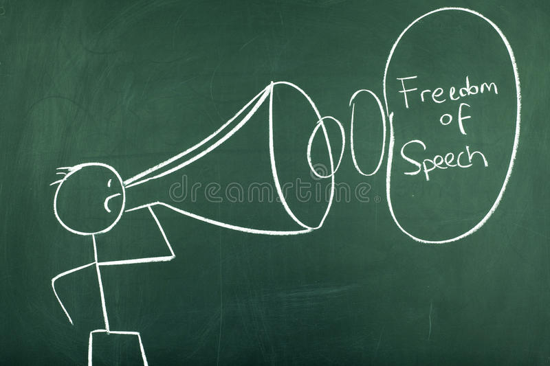 Freedom of Speech stock photo