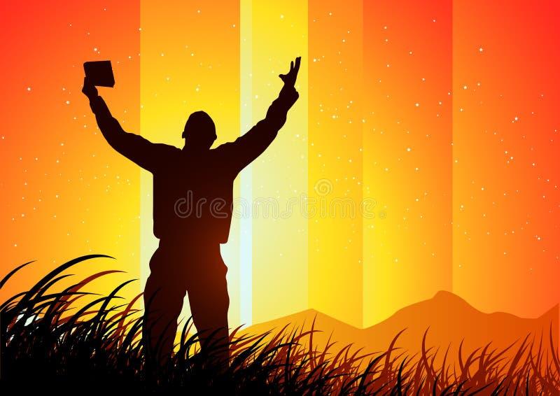 Freedom and Spirituality stock illustration