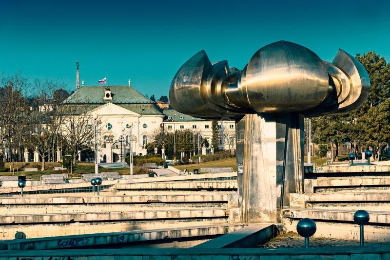 Freedom Square in Bratislava stock images