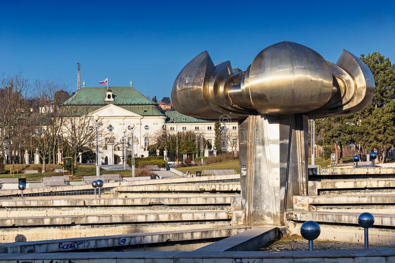 Freedom Square in Bratislava royalty free stock images