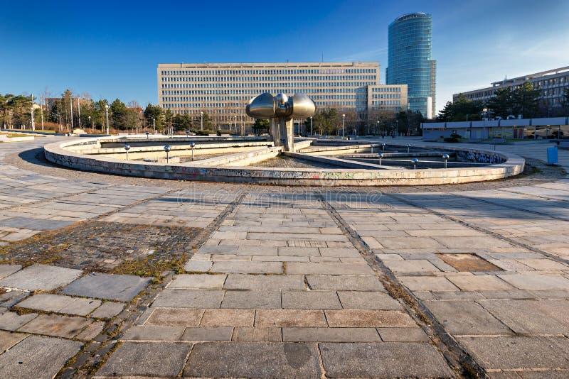 Freedom Square in Bratislava stock photos