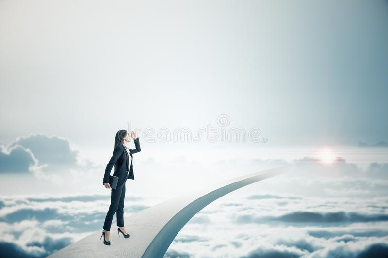 Freedom and success concept stock image