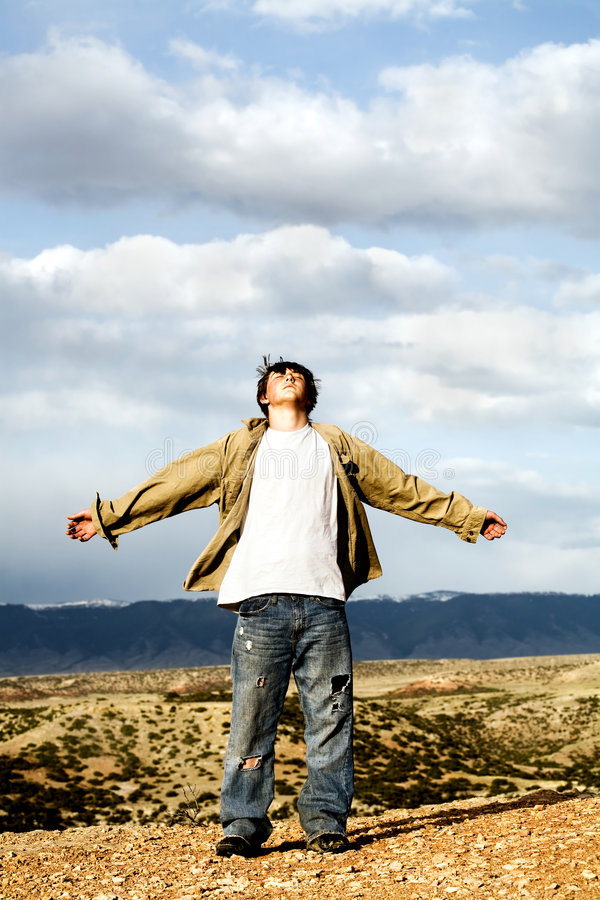 Download Freedom - Teen With Arms With Stock Photo - Image: 5109218