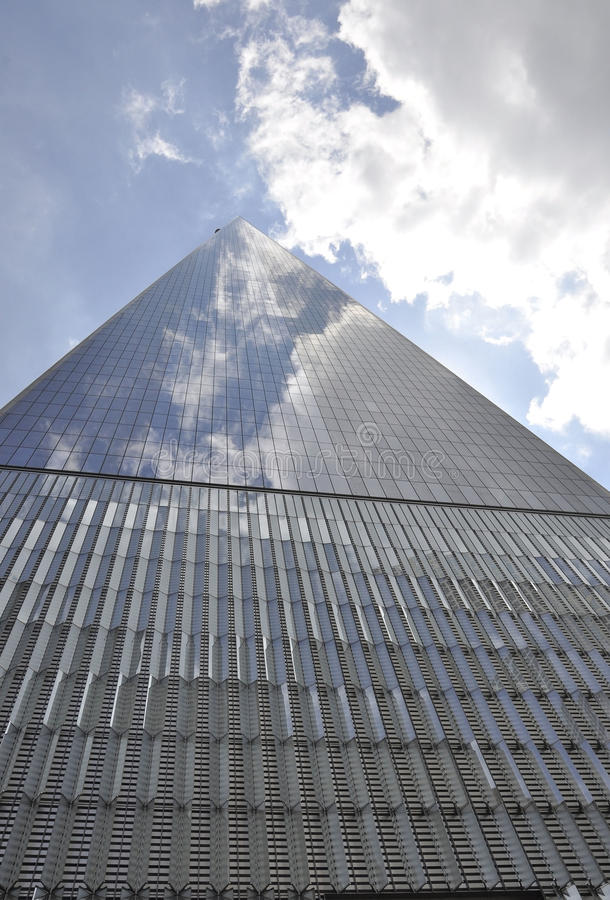 Freedom Tower Building from Manhattan in New York City stock image