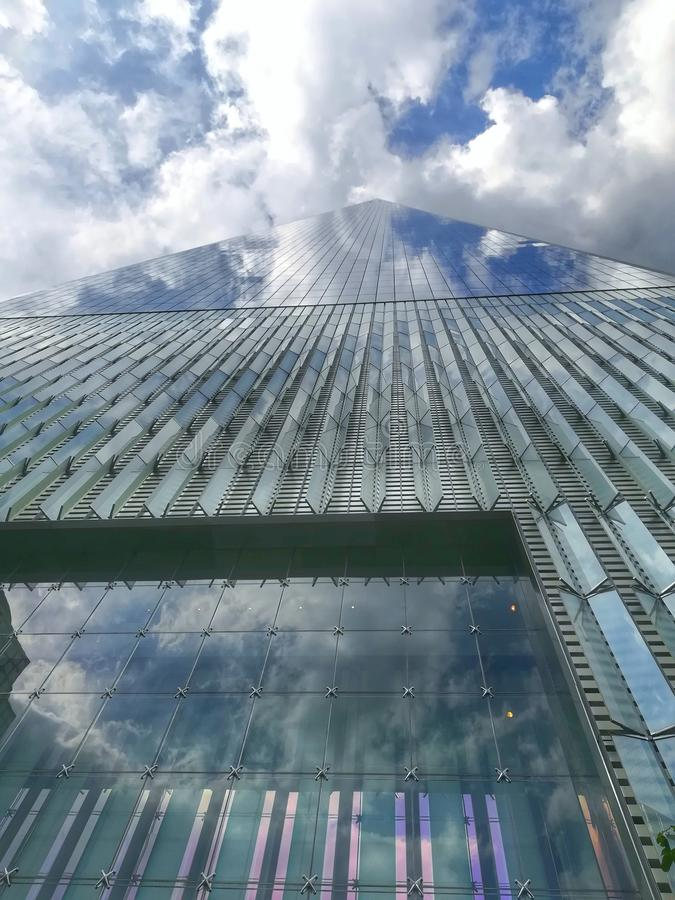 Freedom tower downtown new york city Manhattan glass royalty free stock photo