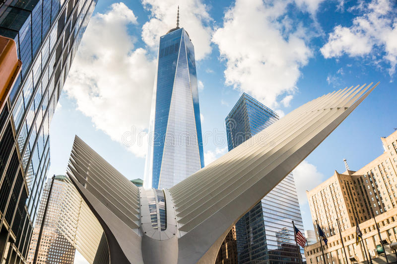 Freedom Tower e Oculus fotografia de stock royalty free