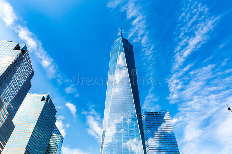 Freedom Tower in New York City, USA.  stock photo