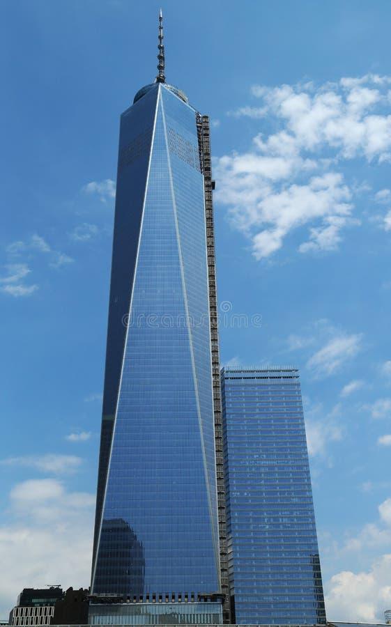 Freedom Tower no Lower Manhattan imagens de stock