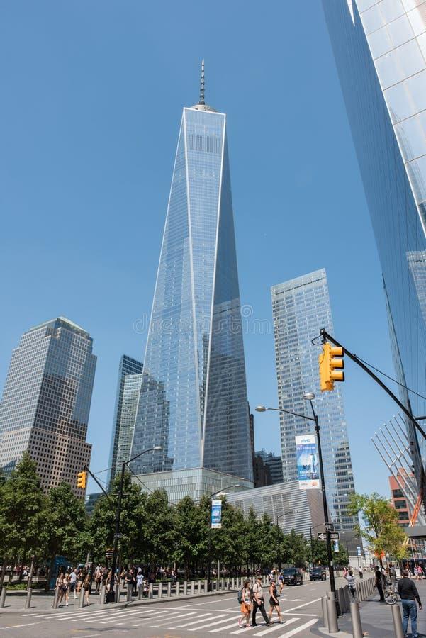 Freedom Tower in NYC stockbilder