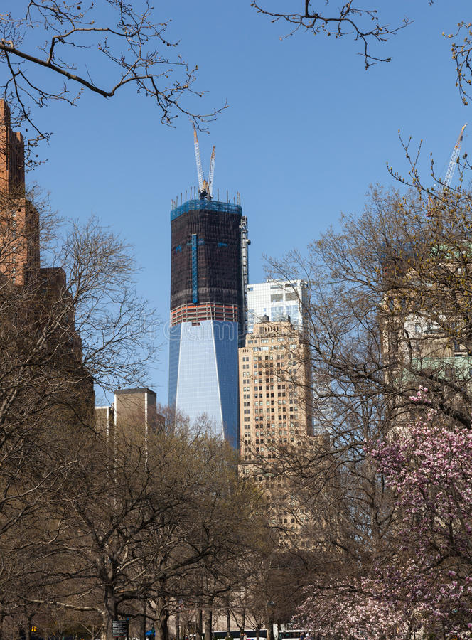 Freedom Tower under construction New York royalty free stock photography