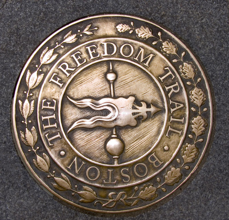 Freedom Trail Boston Massachusetts royalty free stock photography