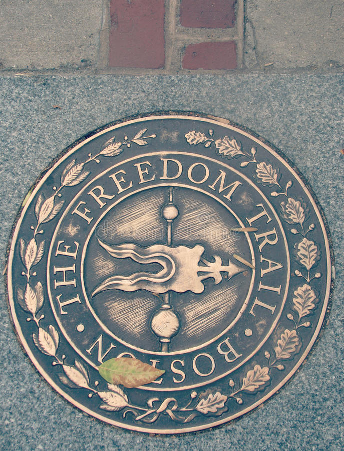 The Freedom Trail of Boston, Massachusetts royalty free stock photography