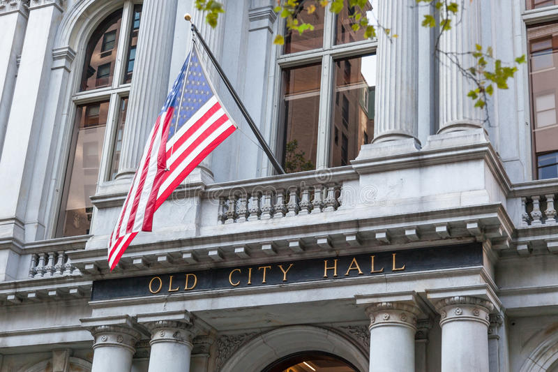 Download Freedom Trail Red Line - Boston Hold City Hall Stock Image - Image: 29902587