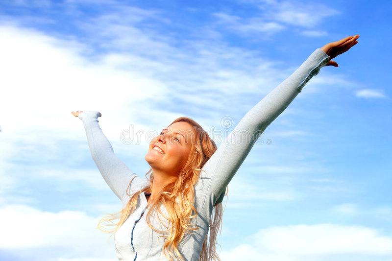 Download Freedom woman stock photo. Image of person, cheerful, successful - 8237428