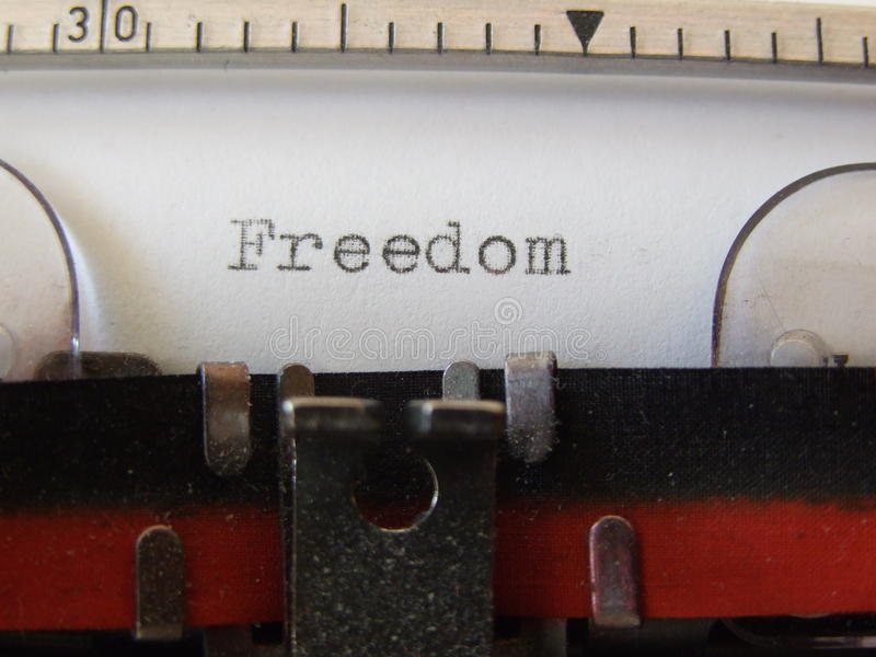 Download Freedom stock image. Image of word, typewritten, black - 37787441