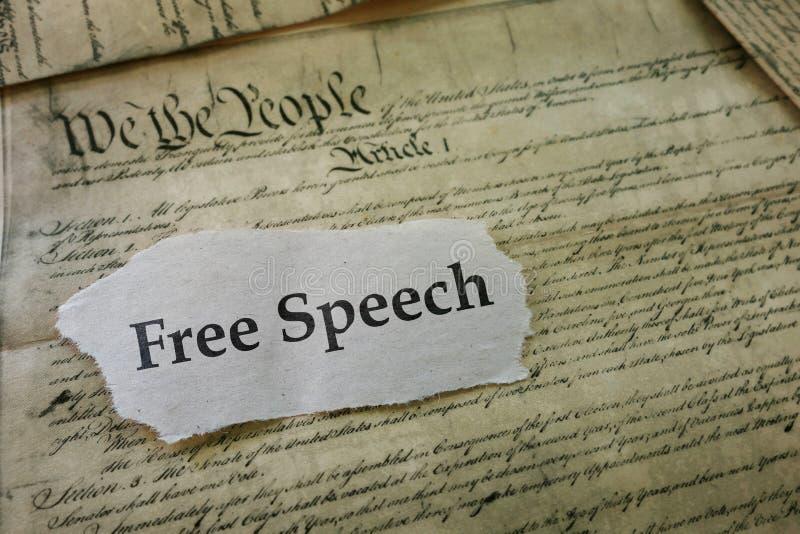 Freedon av anförande royaltyfri bild