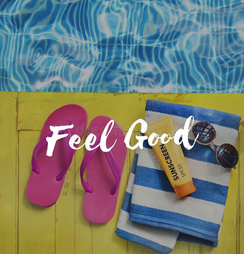 Freedon-Sommer-Spaß-Entspannungs-Konzept lizenzfreies stockfoto