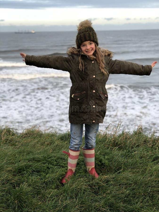Freeedom på stranden arkivfoton
