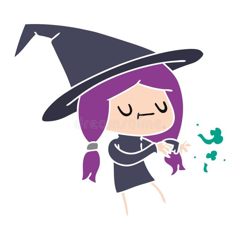 Cartoon Kawaii Cute Witch Magic Halloween Spells Wizard Art