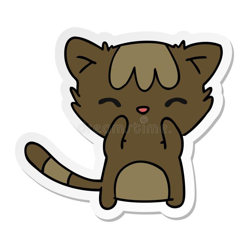 Sticker Decal Cartoon Kawaii Cute Cat Kitten Pet Animal Art