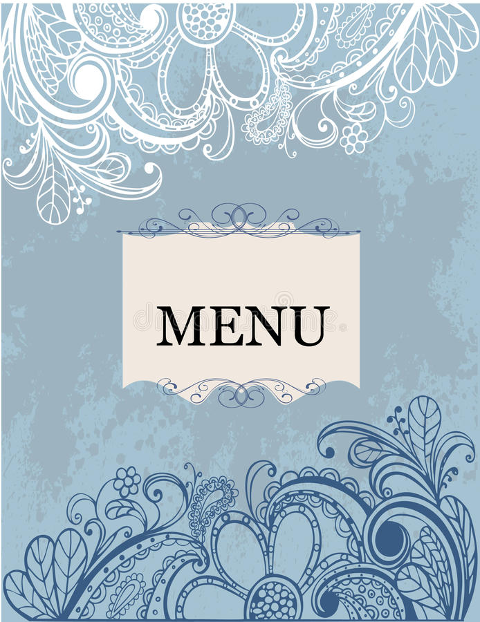 Download Freehand Floral Pattern Menu Stock Images - Image: 17606264