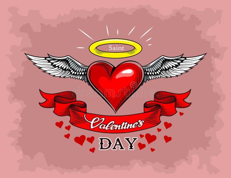 Freehand tekenen in stripstijl voor Valentijnsdag stock illustratie