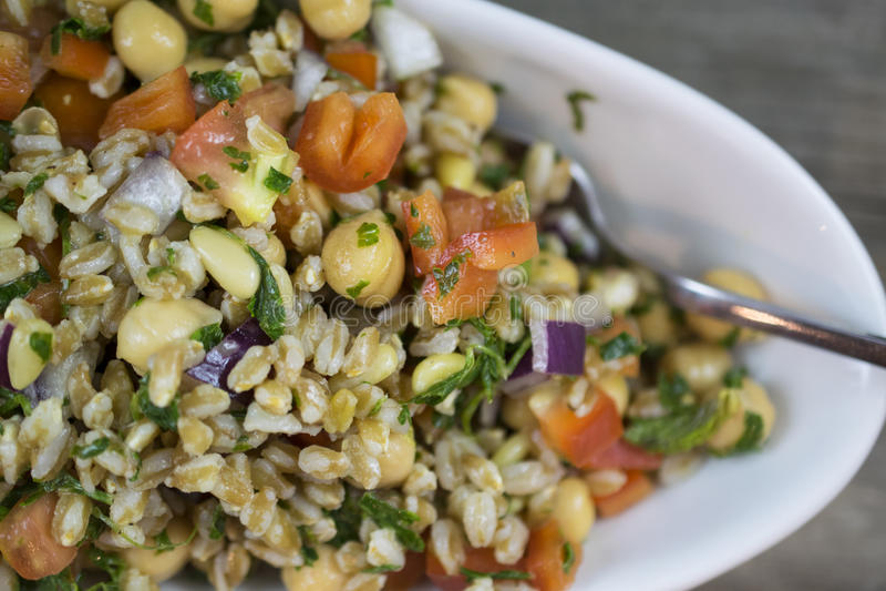 Freekeh Minted Salad stock image