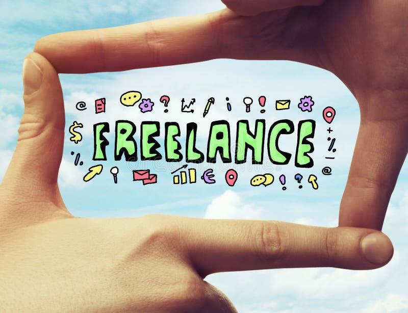 Freelance concept royalty-vrije stock afbeeldingen