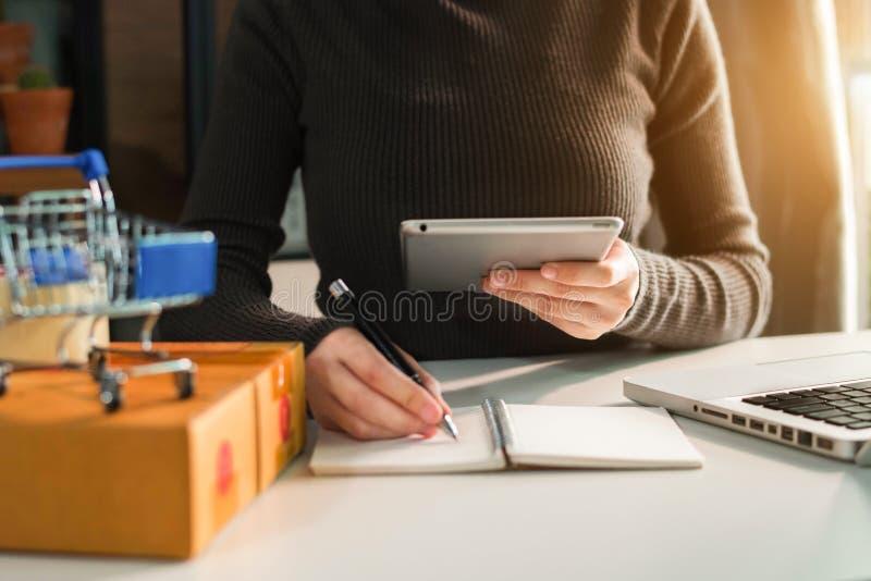 Freelance job home business online seller. stock images