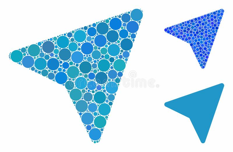 Freelance paper plane Composition Icon of Round Dots vector illustration