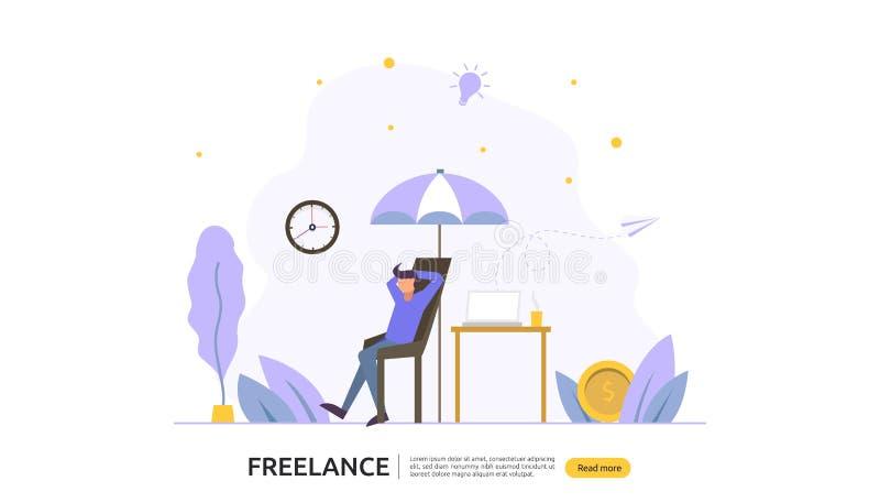 Freelance poj?cie E r r royalty ilustracja